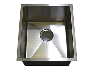 "Auric Sinks 16"" Stainless Steel Sink, Single Bowl Kitchen / Laundry / Veggie / Bar, Under Mount, 6:SHUR-P16-161810"