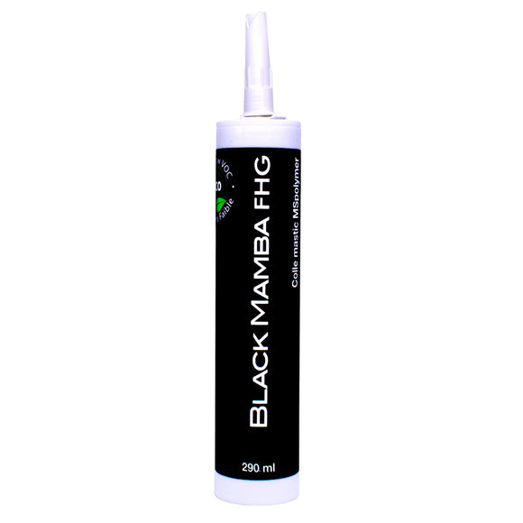 Black Mamba MS Polymer All-In-One Adhesive Super Caulk - Black, White, and Grey colors