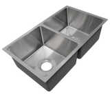 Signature Series SDUr15-18-5050 31189 50/50 Double Bowl Stainless Sink, 18 gauge, Small Radius Corners,  31 x 18 x 9