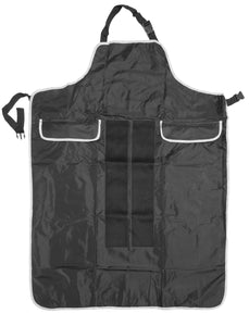 Apron w/ Pockets and Velcro Strips on Front - Black