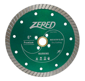 "Zered 6"" Dry Turbo Blade - Green"