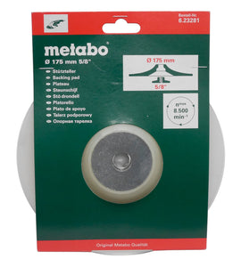 "Metabo 7"" Backing Pad Flex with 5/8"" Flange Nut"
