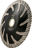 "Diamax CTB Cyclone Contour Turbo Blade, 5"" & 6"" Wet/Dry for Engineered Stone and Granite"