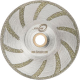 "Diamax CTEB5 Cyclone 5"" Electroplated Contour Blade for Marble, Porcelain/Tile, and Ultra-Compact surfaces, Wet"