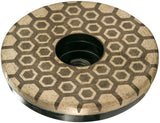 "Diamax Cyclone Hex Flat 4"" Resin Cup Wheel for Engineered stone, granite, quartzite, ultra-compact"