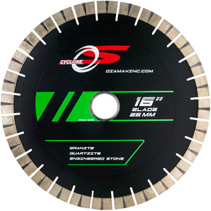 Diamax SCDA-S Cyclone S Reinforced Silent Core Bridgesaw blade for Engineered stone, granite, marble, quartzite