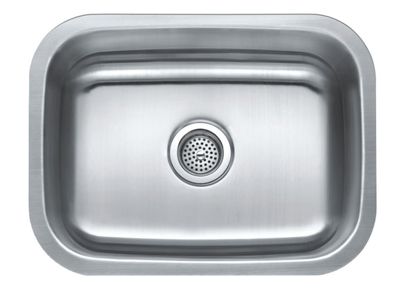 Monterey Bay 23 inch Stainless Steel Undermount Single Bowl Kitchen Sink, 18-gauge, 5:SDU-18-SGL 23179