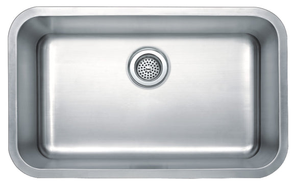 Monterey Bay 30 inch Stainless Steel Undermount Single Bowl Kitchen Sink, 18-gauge, 5:SDU-18-SGL 30189