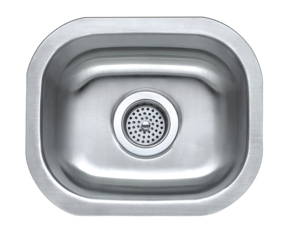 Monterey Bay 15 x 12 inch Stainless Steel Undermount Single Bowl Sink, 18-gauge, 5:SDU-18-SGL 15127