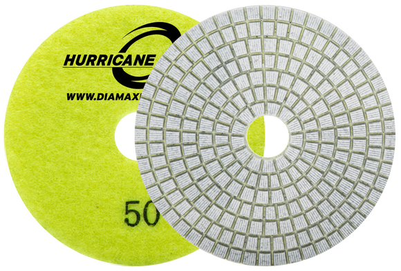 Diamax Hurricane ES White 3 Step Polishing System for Engineered stone, granite
