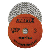 "Weha 4"" Matrix 3 Step Diamond Polishing Pad, Wet"