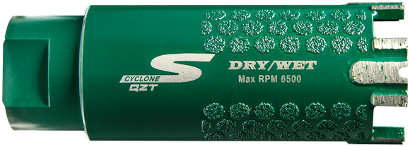 Diamax CDBQZ Cyclone S QZT Core Bit for Engineered stone, granite, quartzite