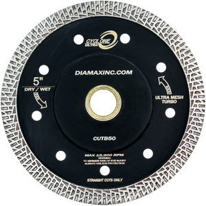 "Diamax Cyclone Ultra Mesh 6"" Turbo Blade for Engineered stone, granite, marble, porcelain, quartzite, ultra-compact"