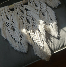 Load image into Gallery viewer, Feather Macrame Wall Hanging