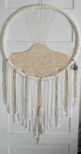 Creams Tasseled Jumbo Crochet