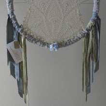 Load image into Gallery viewer, Dusty Blue Celestite Leather Crochet