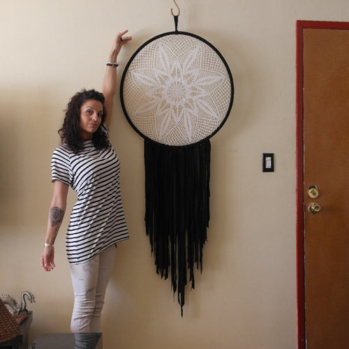 Black & White Sundial Crochet
