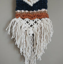 Load image into Gallery viewer, Emjay's Rustic Navy Mini Weaving
