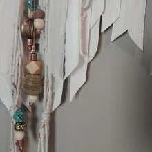 Load image into Gallery viewer, White Selenite Boho Macrame Wall Hanging