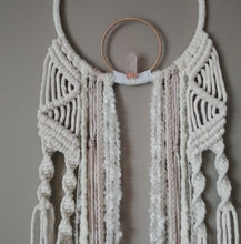 Load image into Gallery viewer, Peaceful Rose Quartz Macrame Dreamer