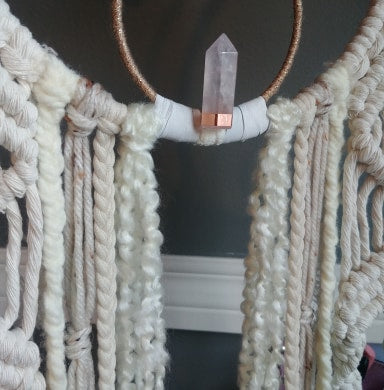 Peaceful Rose Quartz Macrame Dreamer