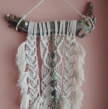 Load image into Gallery viewer, Custom Tumble Stone Macrame Wall Hanging