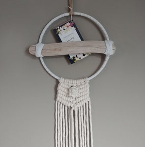 White Leather Drift Macrame
