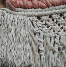 Load image into Gallery viewer, Peachy Macrame Woven Weaving