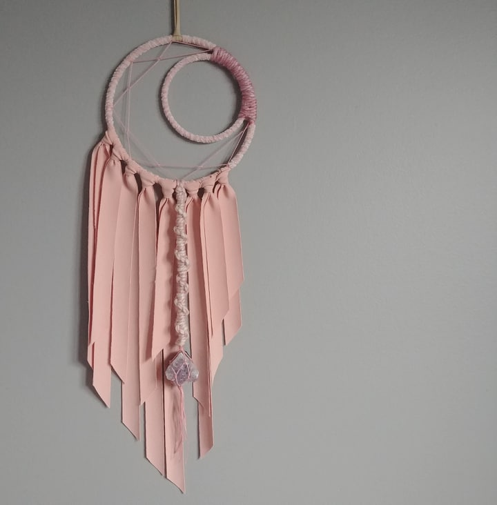 Think Pink Amethyst Crescent Moon