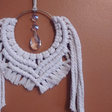 Load image into Gallery viewer, Mini Sun Catcher Macrame Wall Hanging