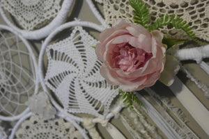 Crochet Flower & Crystal Wallhanging