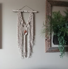 Load image into Gallery viewer, Beige Citrine Macrame Wall Hanging