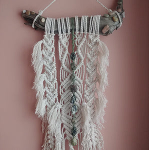 Custom Tumble Stone Macrame Wall Hanging