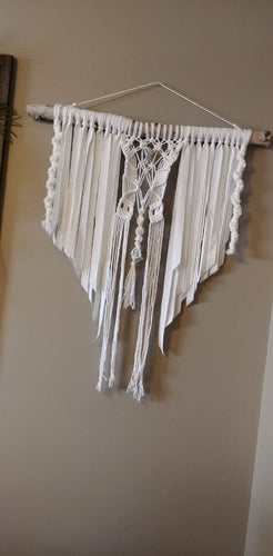 White Kyanite Boho Macrame Wall Hanging