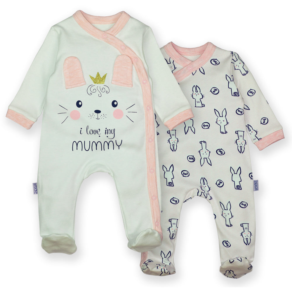 Set 2 salopete Bebeke Premium Somon\Pink\Grey