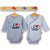 Set 2 body Kimono cu maneca lunga Grey/White, 0 - 3 luni