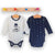 Set 2 body cu maneca lunga MRo Perfect Navy/White, 0 - 3 ani