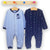 Set 2 salopete MRo Perfect Blue/Navy, 6 - 18 luni