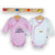Set 2 body Kimono cu maneca lunga Little Princess Pink/White, 0 - 3 luni