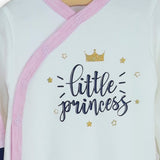 Set 2 salopete Little Princess Pink/White, 0 - 9 luni