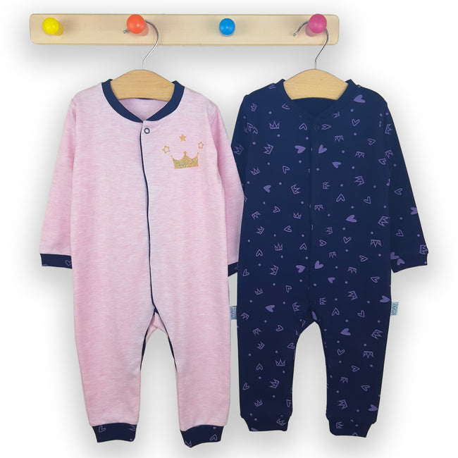 Set 2 salopete Queen Pink/Blue, 6 - 18 luni