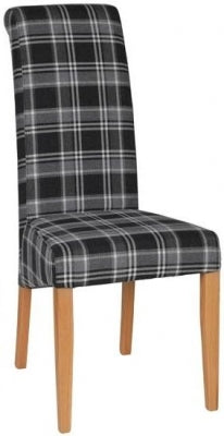 Monza Dining Chair Black Check