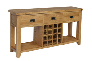 Rustic 3 Drawer Wine Cabinet - FREE UK Mainland Delivery