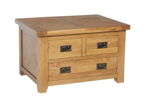Rustic Small Storage Coffee Table - FREE UK Mainland Delivery