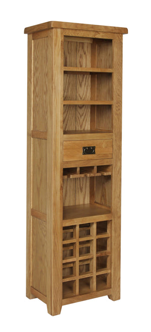 Rustic Tall Wine Cabinet - FREE UK Mainland Delivery