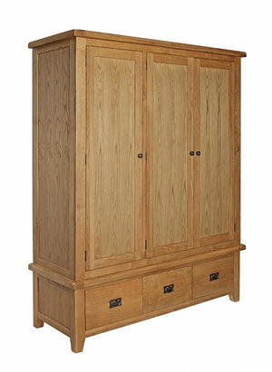 Rustic Triple Wardrobe - FREE UK Mainland Delivery