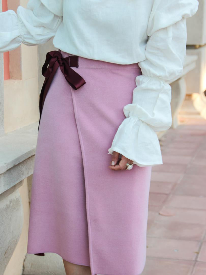 Autumn/Winter Wrap Around Midi Skirt No.8