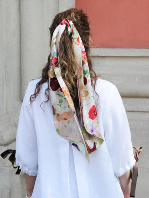 Hair Scarf & Tie Aquarelle Cherish