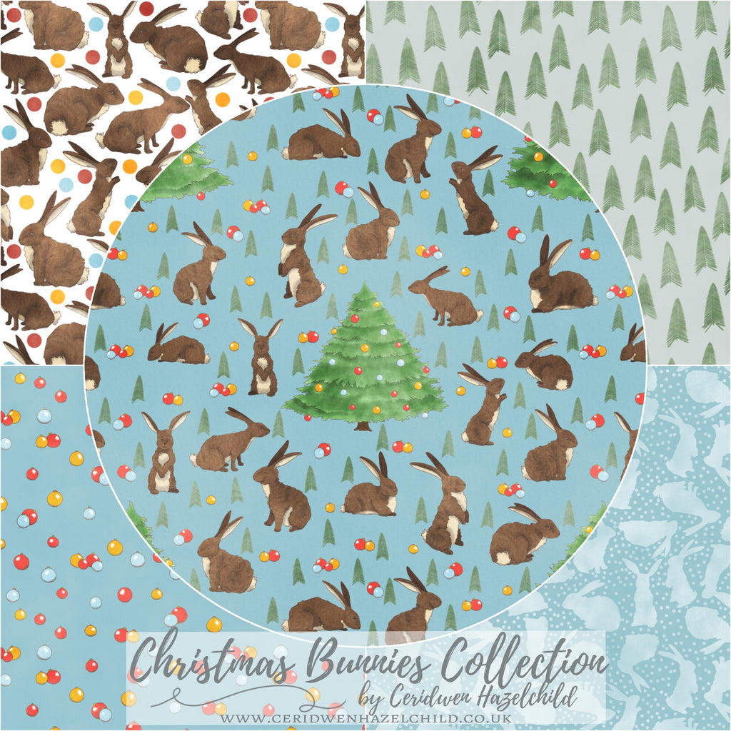 Christmas Bunnies Fabric Collection