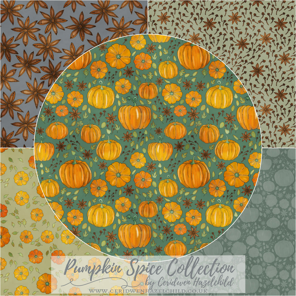 Pumpkin Spice Fabric Collection